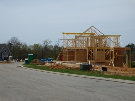 One of more than 10 homes under construction